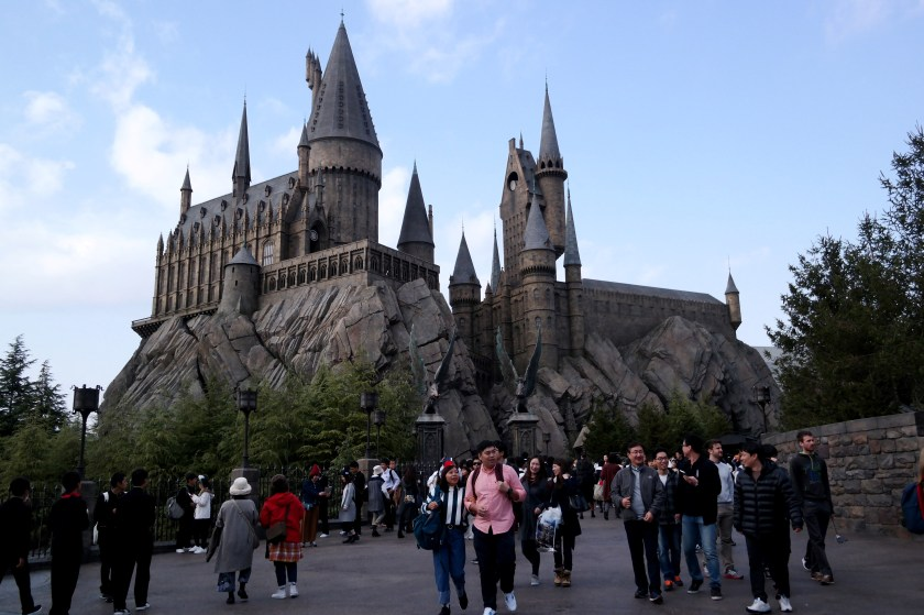 The Wizarding World of Harry Potter at Universal Studios Japan tourists