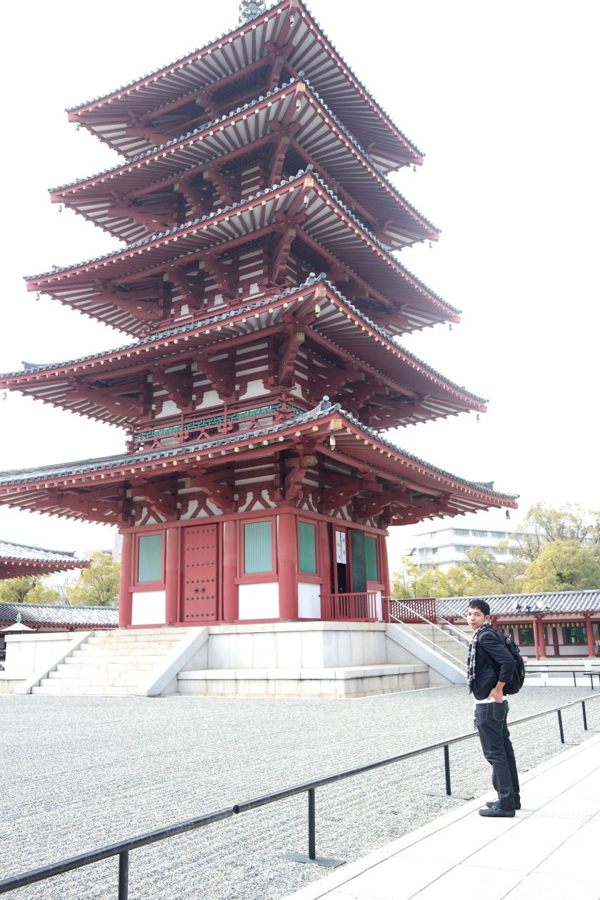shittenoji temple pagoda