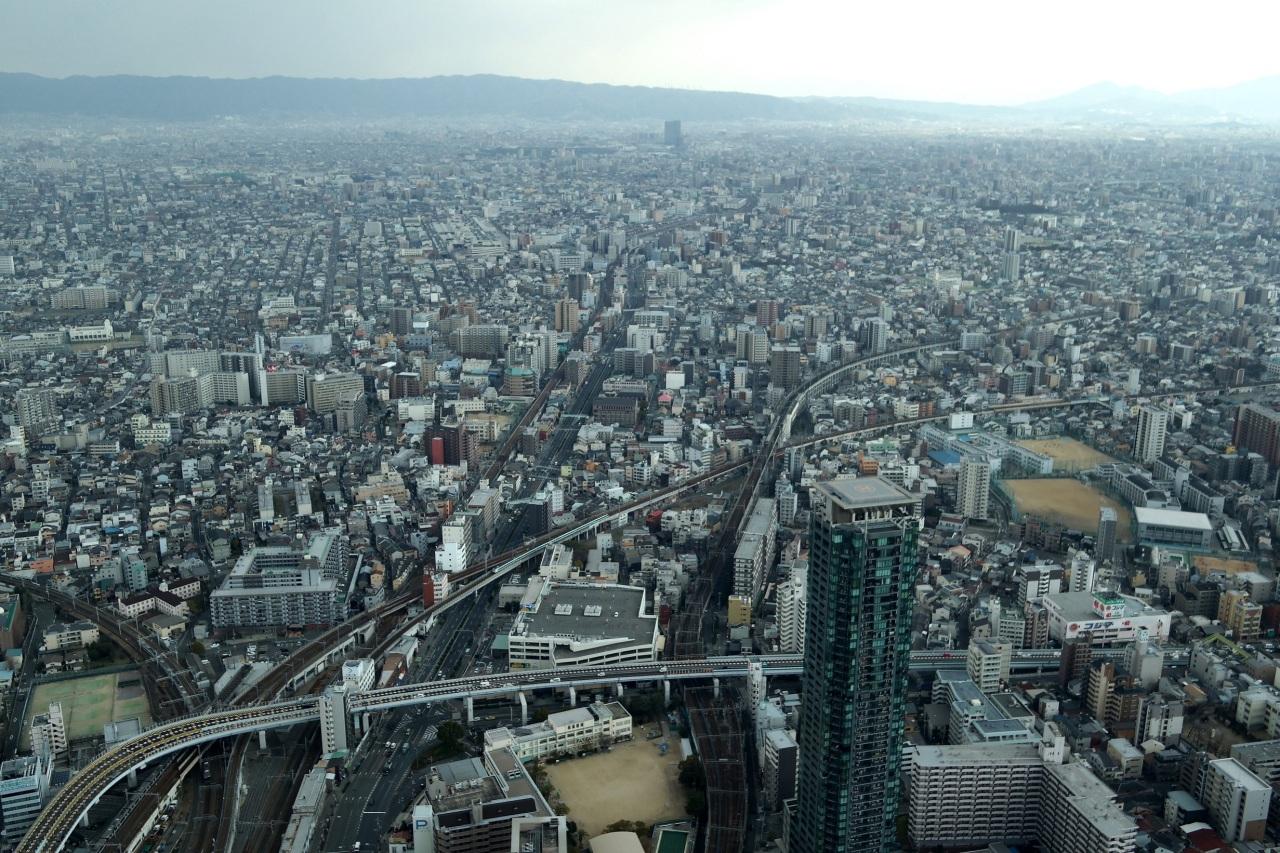 abeno harukas birds eye view