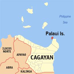 Palaui Island location