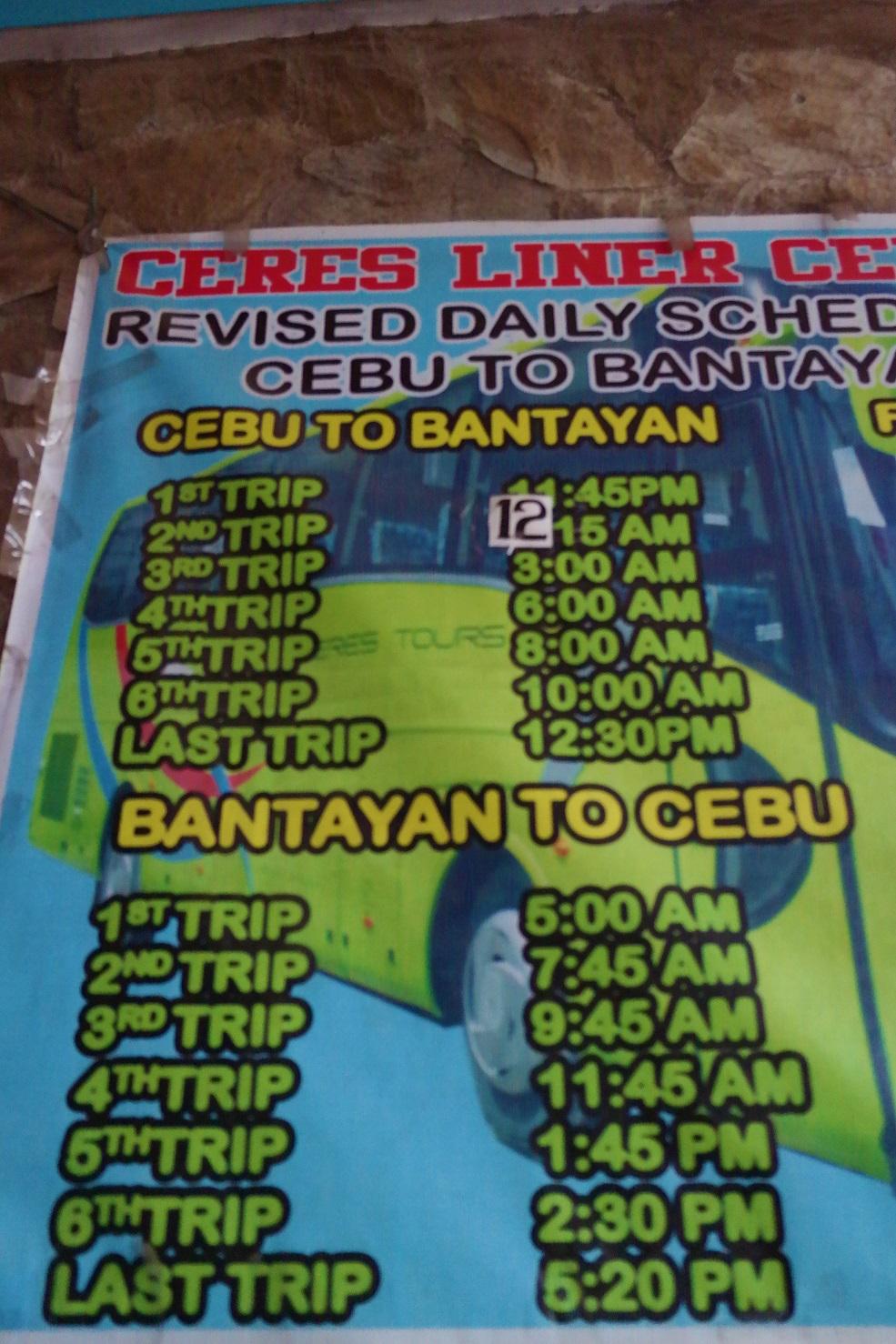 Cebu Ceres Bus Schedule