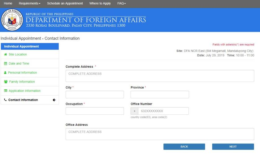 how to schedule passport appointment