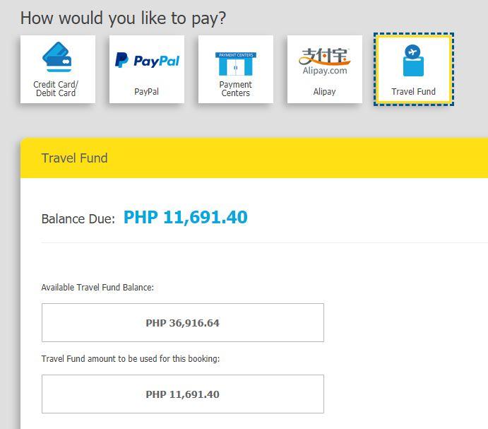 Cebu Pacific Travel Fund