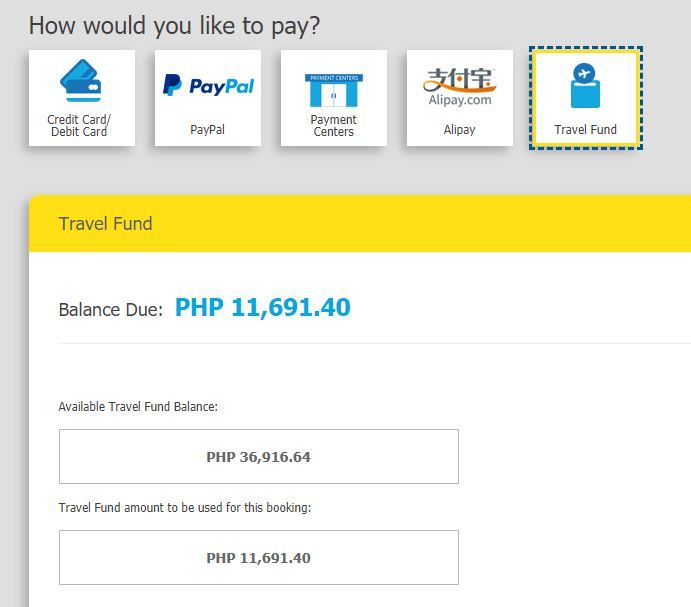 Cebu Pacific Travel Fund